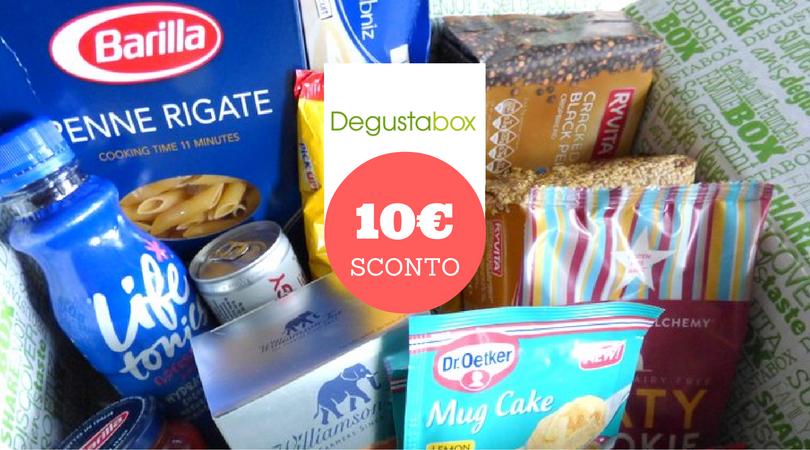 Buono sconto di 10€ DEGUSTABOX + OMAGGIO