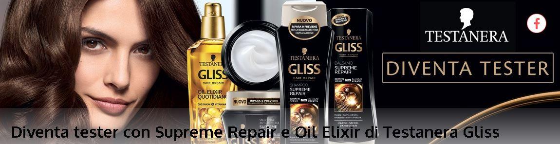 Candidati su My myBeauty per testare Gliss Supreme Repair e Oil Elixir.