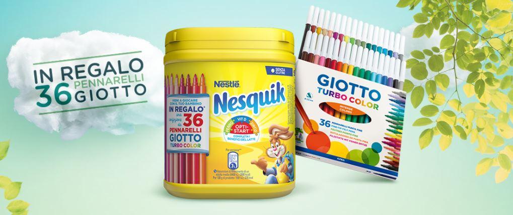 Con Nesquik ricevi il premio certo firmato Giotto e partecipi al concorso