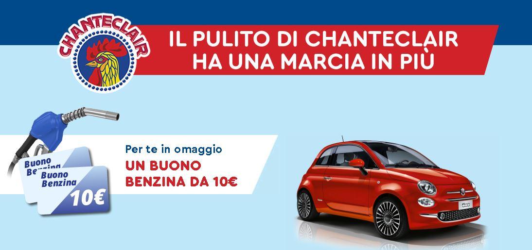 Spendi 10€ in prodotti Chanteclair e ricevi un buono carburante da 10€