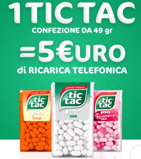 Ricarica il telefonino con TIC TAC