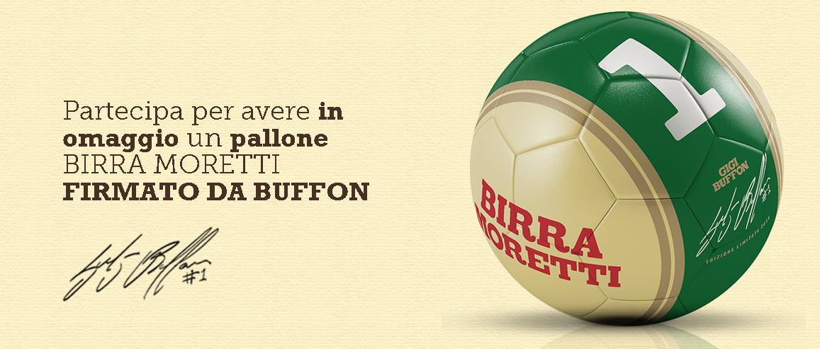 Pallone autografato da Gigi Buffon con Moretti